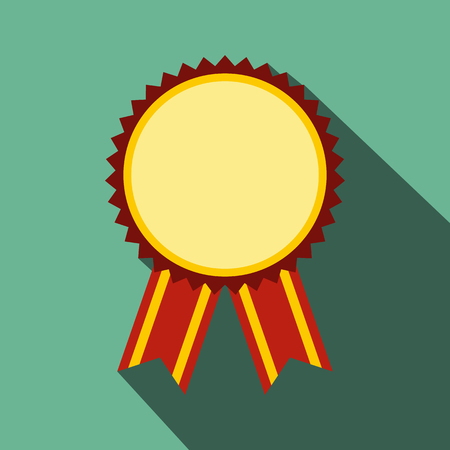 recompense: Medal award military flat icon with shadow for web and mobile devices
