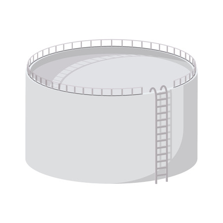 Storage oil tank cartoon icon. Single illustration isolated on a white background