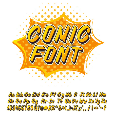 fonts: Alphabet collection set in comics style isolated on white background