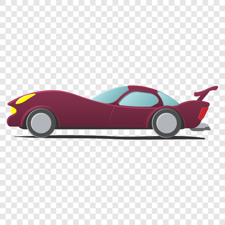 autosport: Cartoon car isolated on transparent background. Sportscar