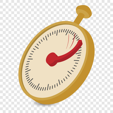 stopwatch: Analog stopwatch cartoon illustration. Single colored symbol ontransparent background