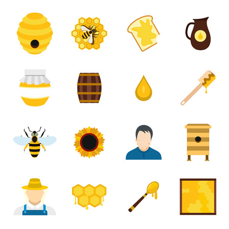 honeyed: Apiary flat icon for web and mobile devices Illustration