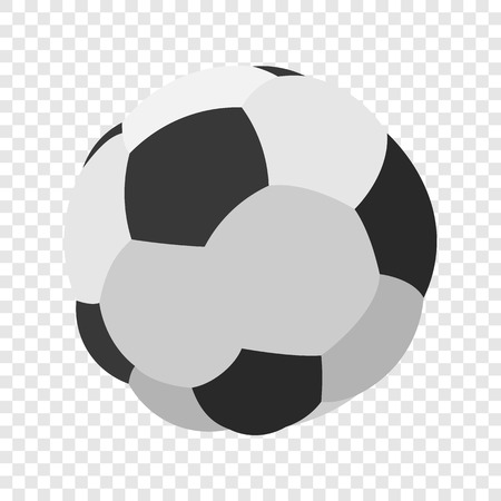 footie: Soccer or football cartoon image. Color icon on transparent background