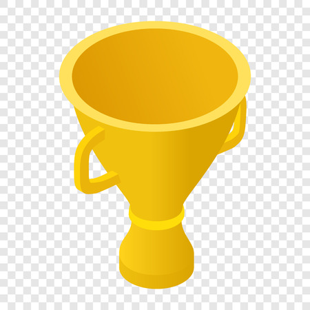 trophy winner: Trophy cup isometric 3d icon on transparent background