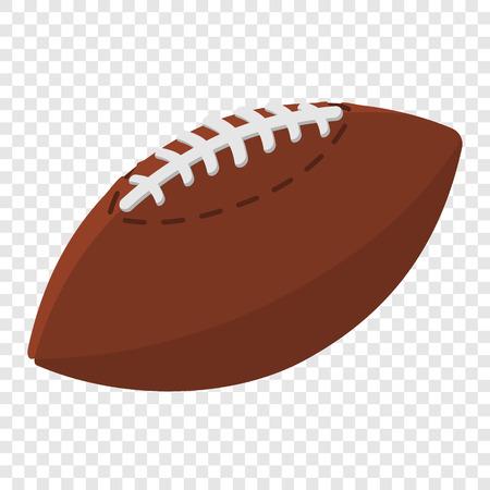 American football ball cartoon illustration. Cartoon symbol on transparent background Illustration