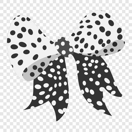 spot the difference: Cartoon bow black sign on transparent background