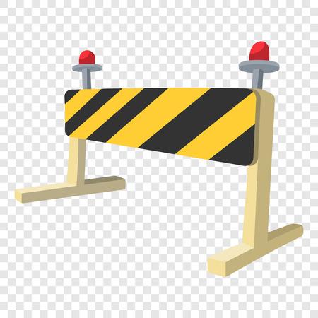 Traffic barrier cartoon icon. Single illustration on transparent background