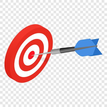 arrow target: Target isometric 3d icon on transparent background Illustration