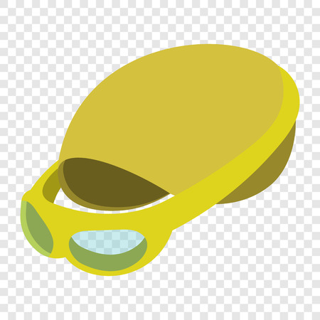 swimming cap: Swimming cap and goggles illustration. Cartoon symbols on transparent background
