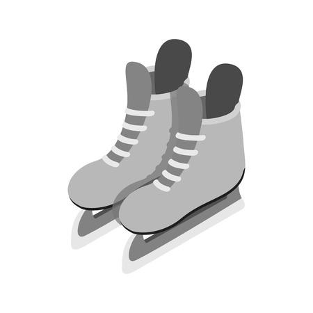 hockey skates: Ice skates isometric 3d icon. Hockey skates. Male skates isolated on a white backgroundisolated