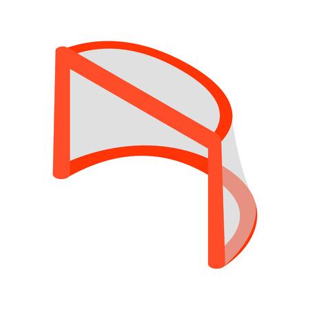 icehockey: Hockey gates isometric 3d icon. Illustration of goal isolated on white background