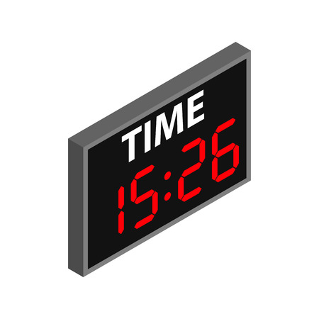 score board: Match score board with timer isometric 3d icon. Hockey symbol on a white background Illustration