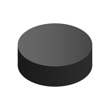 puck: Puck isometric 3d icon. Black hockey puck isolated on white background Illustration