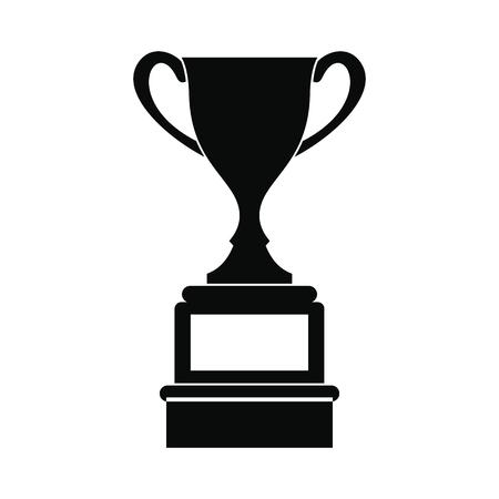 Sports cup black eenvoudige pictogram op een witte achtergrond Stock Illustratie