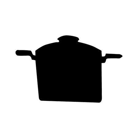 ware: Kitchen ware silhouette isolated on white background Illustration