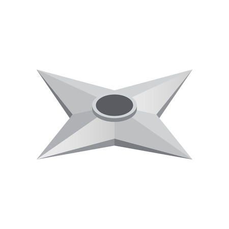 Flying knife made of steel isometric 3d icon on a white background