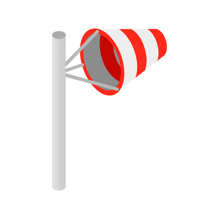 windsock: Windsock isometric 3d icon on a white background