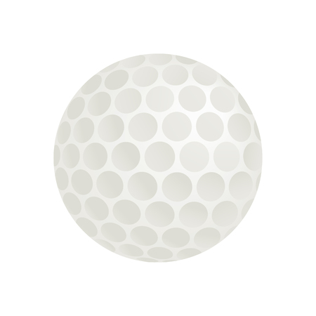 3d ball: Golf ball isometric 3d icon on a white background