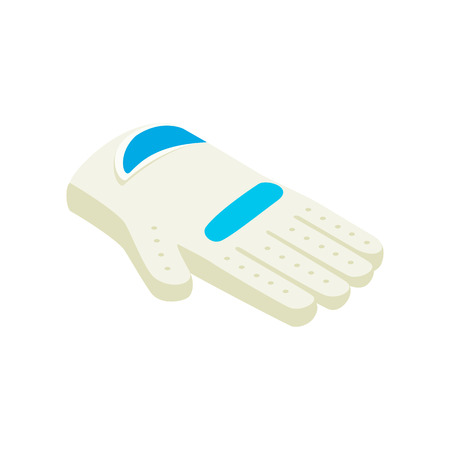 golf glove: Golf glove isometric 3d icon on a white background