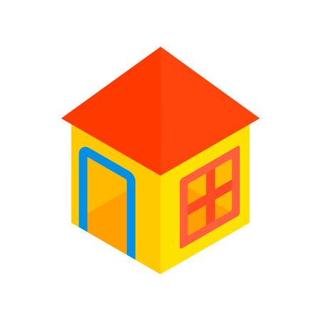 toy house: Toy house isometric 3d icon on a white background Illustration