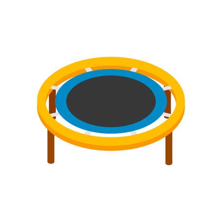 Trampolino di salto isometrico 3d icona su uno sfondo bianco