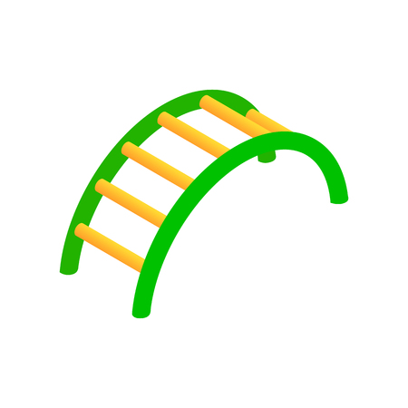 climbing stairs: Climbing stairs isometric 3d icon on a white background