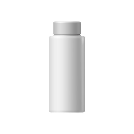 medical shower: White blank cosmetic container on a white background Illustration