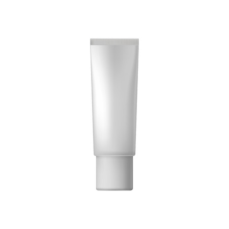 tube top: White blank cosmetic tube on a white background