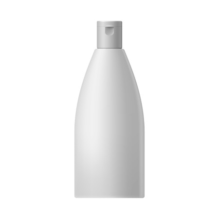 cosmetic bottle: White blank cosmetic bottle  on a white background Illustration