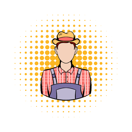 an agronomist: Farmer comics icon on a white background Illustration