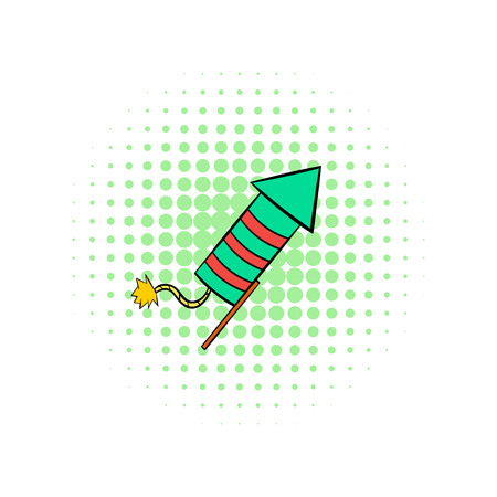 party popper: Party popper comics icon on a white background Illustration