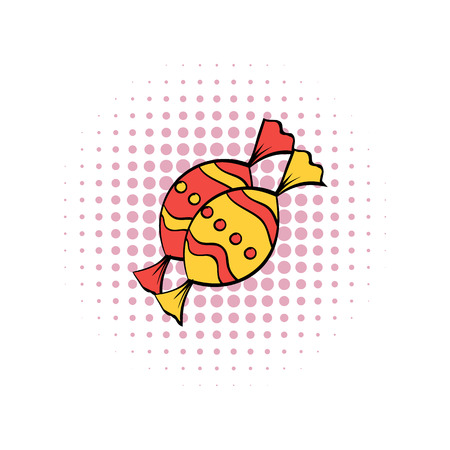 sweetmeat: Candies comics icon on a white background
