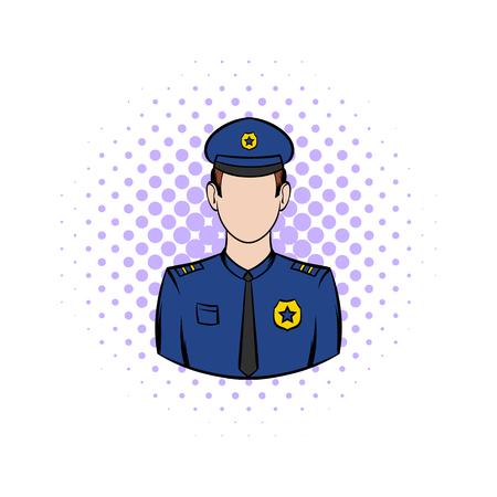 policemen: Policemen comics icon on a white background Illustration