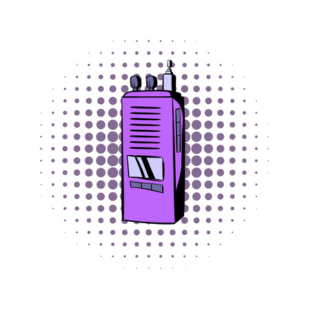 portability: Radio comics icon on a white background