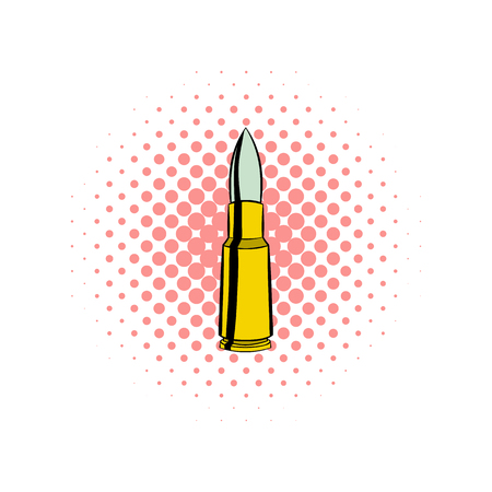 full jacket bullet: Bullet comics icon on a white background
