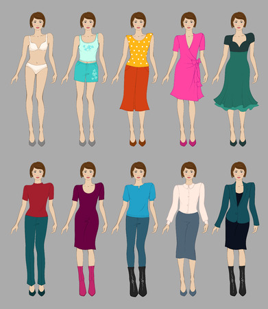 models: Flat fashion models for web and mobile devices