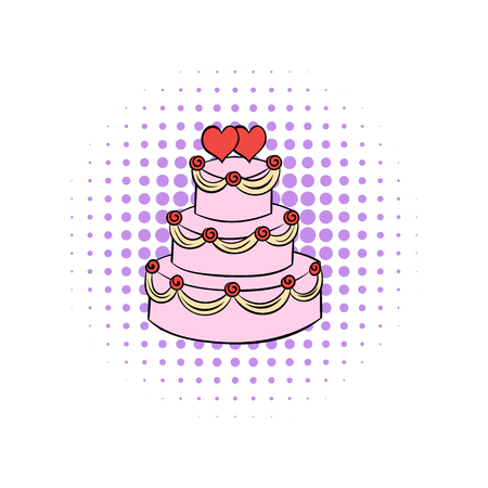 tier: Wedding cake comics icon isolated on a white background