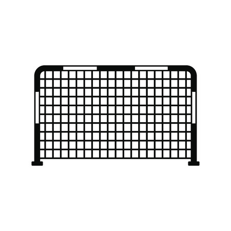 soccer goal: Soccer goal black, simple icon isolated on white background