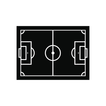 on field: Soccer field layout black simple icon isolated on white background