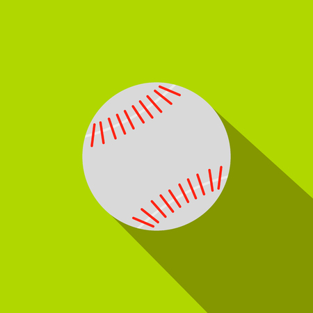 fastball: Baseball flat icon on a green background Illustration