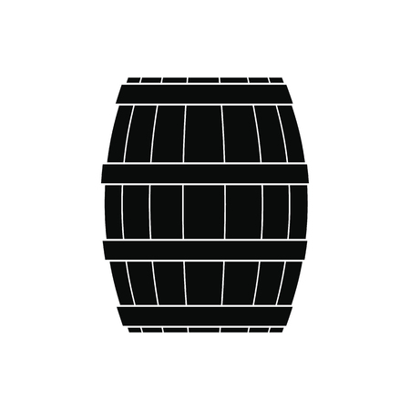 liquefied: Barrel with honey black simple icon isolated on white background Illustration