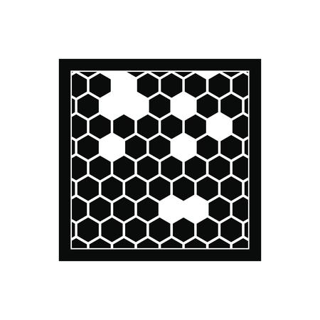 白い背景に分離された黒 honecombs シンプルなアイコンを持つフレーム