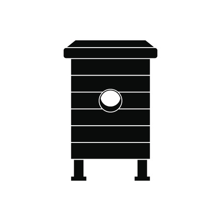 apiculture: Beehive black simple icon isolated on white background