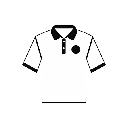 t shirt printing: White men polo shirt black simple icon