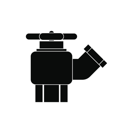 hydrant plug: Fire hydrant with valve black simple icon