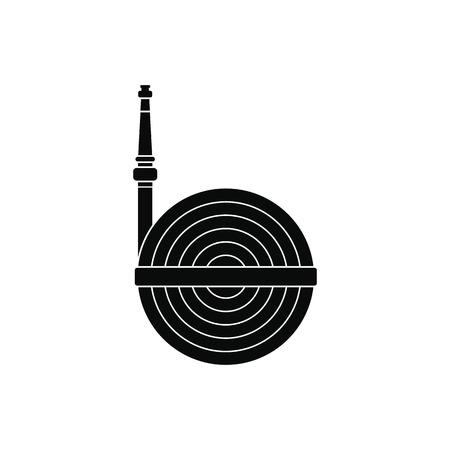 winder: Fire hose winder roll reels black simple icon