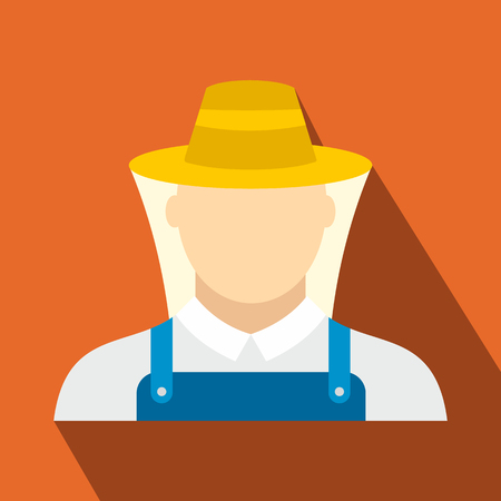 beekeeper: Beekeeper flat icon. Man in protective uniform for web and mobile devices