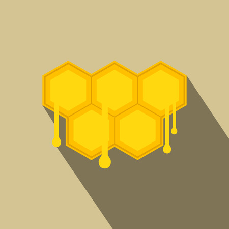 honeycomb: Honeycomb with drops flat icon. Colored symbol for weband mobile devices Illustration