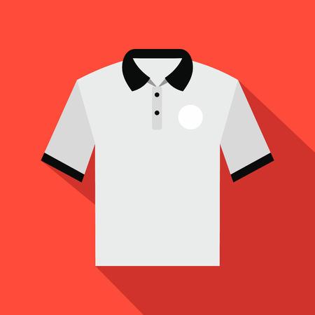 white men: White men polo shirt flat icon on a red background