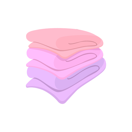 in towel: Towel stack cartoon icon on a white background
